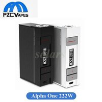 Wholesale Instant Power - Powerful Geninue Voopoo Alpha One 222W Box Mod Powered By US Gene Fun Chip Instant Firing 100% Original Vape Mod
