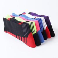toalha de futebol grátis venda por atacado-Hot Sale 7 Cores Profissional Meias Esportivas com Toalhas Grossas no final de Sua Elite de Futebol Ao Ar Livre Meias Esportes Livre DHL grátis