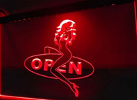 Wholesale Sexy Neon Signs - OPEN Sexy Sex Girls beer bar pub club 3d signs LED Neon Light Sign