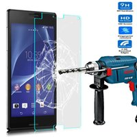 Cheap For Sony 9H 0.3mm Best For Xperia Z2 Tempered Glass Explosion Proof