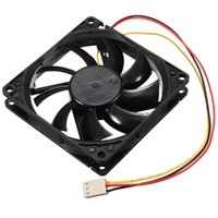 Wholesale Copper Winding Wire - Wholesale- universal DC 12V Efficient 3 Wire Pin 80x80x15mm Standard Super Wind Mute Cooling Cooler PC Computer Case CPU Fan Airflow Cable
