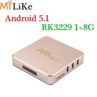 Wholesale Uk Sd - Android 6.0 TV Box A96Gold Quad Core 8G 1G Rockchip RK3229 Smart TV Box suport WIFI 4K 3D SD A96 iptv box