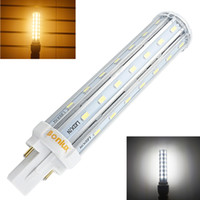 base ampoules achat en gros de-Gros-Bombillas LED G24 2-Pin base ampoule de maïs 110V 220V 13W G24 PLC lampe horizontale Plug Light avec 30W CFL de remplacement