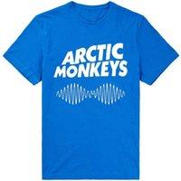 monos de roca al por mayor-Arctic Monkeys camiseta Pioneer rock band manga corta Alex Turner tees Música fresca ropa Unisex camiseta de algodón
