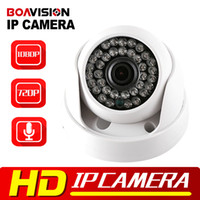 Wholesale Ir Dome Wifi Security Camera - BOAVISION 720P 1080P IP Dome Camera Audio WIFI Optional IR 20M Night Vision 3.6mm Lens 1.0MP 2MP Security CCTV Camera P2P