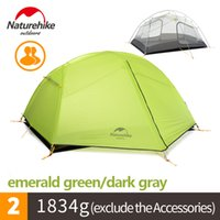 Wholesale Mountaineering Poles - NH New Paro 1-2 People Lightweight Outdoor Two Bedroom Double Silica Gel Tent Aluminum Alloy Pole Waterproof Sunscreen Camping(NH17T006-L)