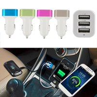 Cargador de coche USB de 3 puertos Cigarrillo universal 3.1Amp Car Power Adapter para iPhone iPad iPod Samsung Galaxy Motorola Droid Nokia Huawei