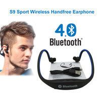 Wholesale Cheap Headphones For Pc - Cheap S9 Wireless Bluetooth 4.0 Headset Sports Earphone Headphones Support TF Card for Mobile Phone Xiaomi PC