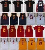Hot Sale 2 Kyrie Irving Maillots de basket-ball Hommes Throwback 23 LeBron James 0 Kevin Love Jersey Sport Tout cousu Rouge Blanc Jaune Bleu marine