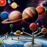 Wholesale Kid Science Kits - Solar System Planetarium Model Kit Astronomy Science Project DIY Kids Gift New Hot!