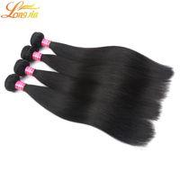 Wholesale grade 6a human hair online - Grade A Good quality Malaysian Virgin human hair Products Unprocessed Virgin Malaysian Straight Hair Natural Color B