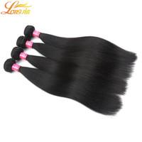 6a saç ürünleri toptan satış-Sınıf 6A kaliteli Malezya Bakire İnsan saç Ürünleri% 100% İşlenmemiş Virgin Malezya Düz Saç Doğal Renk # 1B Ücretsiz Kargo