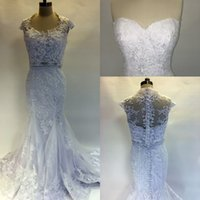 Wholesale white short dress bolero - 2017 New Cheap Mermaid Wedding Dresses Sweetheart Court Train Lace Appliques Crystal Custom Plus Size Formal Bridal Gowns With Bolero Jacket