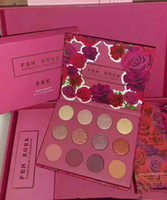Wholesale Halloween Eye Shadow - 2017 NEW ColourPop Fem Rosa Set 12 color Eye Shadow +3 color Highlighter +3 color Matte lipstick Good quality Luxury Kit DHL Free shipping