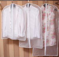 Wholesale Cloth Garment Bags Wholesale - Cloth Dustproof Cover Garment Organizer Suit Dress Jacket Clothes Protector Pouch Travel Storage Bag With Zipper KKA2078