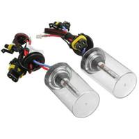 Wholesale Hid Lamp Base - New 1Pair 12V 55W H7 Metal Base Headlight For HID Xenon Ceramic Bulbs Light Car Auto Lamp Conversion Kit 6000k