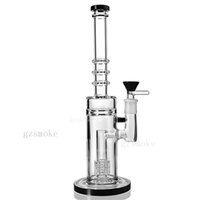 Wholesale 5mm Tube - Wax Bongs Straight Tube Bong 5mm Thick Water Pipes Matrix Percolator Bubbler Pipe Oil Rig Beaker Base Dab Rigs With 14mm Bowl