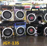 Wholesale Dancing Mp3 - JGY-135 series Bluetooth speakers wooden box with a handle square dance wireless card audio loudspeaker speaker