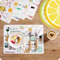 Wholesale Meal Pad - Cartoon PP Placemat 40*29cm Meal Cup Pad Table Decoration Accessories Kitchen Dining Tableware Utensil Restaurant Mats ZA3516