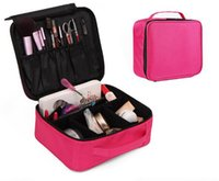 Wholesale make trips - Waterproof women make up bag 300D oxford two layers cosmetics organizer bag for travel, business trip