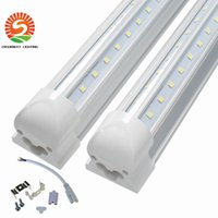 V-Shaped 4ft 5ft 6ft 8ft 32w 72w Tubos Led T8 Tubos Led Integrados Lados Duplos SMD2835 Luzes Fluorescentes Led AC 85-265V UL DLC