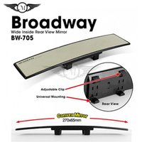 Wholesale Convex Truck Mirrors - Broadway Untra Thin Universal 270mm Wide Convex Auto Clear Interior Mirrors Clip On Car Vehicle Truck Inside Rear View Mirror