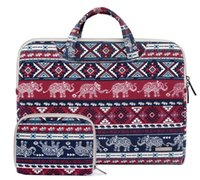 Leinwand Elefant Laptop Sleeve Tasche Aktentasche Tragetasche für Macbook