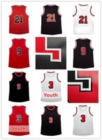 Wholesale R 21 - 2017 new Rev 30 men #3 W e and Youth Kid Basketball jersey Cheap Rev 30 Men R o #9 B r #21 jerseys embroidery Logos Free Shipping