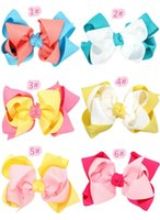 Wholesale Wholesale Girls Hair Bubbles - Hot American Independence Day National Day children to double bubble Bow Headband girl girl with hair headdress