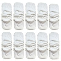 Wholesale Pocket Cloth Diapers Inserts - 20pcs Naturally Soft 5 Layers Bamboo Charcoal Inserts For Baby Cloth Diapers Super Absorbent Reusable Washable Inserts Liners Pockets