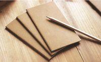 bağbozum boşlukları toptan satış-Kraft Dizüstü Kağıt El Kopya Kapağı Bloknotlar Boş Dikiş Not Defteri kraft Kapak Dizüstü Günlük Kağıt Dergisi Kırtasiye