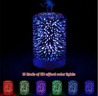 Wholesale Plug Mini Night Lights - 3D Humidifier Ultrasonic Night Light Function 16 Kinds Gradient Color Complimentary Multi-function Plugs Home Humidifier 10pcs OOA2619