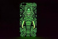 Wholesale Owl Pattern Case - Brand Animals Lion Wolf Owl Pattern Hard Back Phone Case For iPhone 6 6s 7 Plus Glow In The Dark Luminous Forest King Case