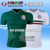 Wholesale Nationals Football - New Arrived 2017 2018 Mexico CHICHARITO Soccer Jersey G.DOS SANTOS R.MARQUEZ Home Green Away Hernandez 17 18 national Team Football Shirt