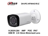 Wholesale Cmos 12mm - Dahua IPC-HFW4431R-Z IP Network Camera 4MP 2.8mm ~12mm Motorized Zoom Lens IP66 Support POE Bullet Camera English original free shipping