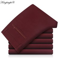 Wholesale Easy Fit Brands - Wholesale- King Bright Brand Wrinkle Free Easy Care Wedding Dress Formal Men Suit Pants Slim Fit Brand Mens Pants Casual Business Trousers