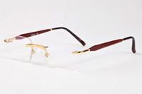 Wholesale Top Brands Wayfarer Sunglasses - wayfarer rimless sunglasses for men flat top high quality square luxury brand designer women sun glasses vintage UV400 ladies shades