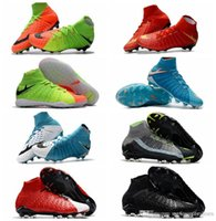 Wholesale High Ankle Baby Shoes - 2017 original ankle high kids hypervenom phantom 3 DF FG TF IC III Mens hot sale indoor neymar boots baby outdoor leather shoes