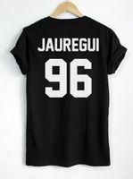 Wholesale Lauren Black - LAUREN JAUREGUI 96 Back letters print Women Cotton Casual Funny For Lady Top Tee Hipster black white gray