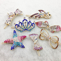 Wholesale Metal Heart Ornaments - Mix Style Fashion Metal Hair Clips Barrette Crown Hairpin Accessories For Women Girls Hair Clip Pin Clamp Hairclip Hairgrip Ornaments