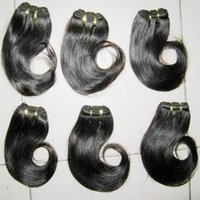Wholesale Low Prices Malaysian Hair - 1.2kg bulk low price free DHL malayaisn human hair wefts weave wavy 8 inch(30g pc) color #1b hair for sale