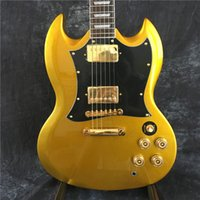 .Custom Shop SG Guitarra eléctrica Gold yellow OEM Instrumentos musicales HOT Guitars