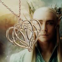 Wholesale Gold Elf Pendant - Wholesale- the Elves Elrond King necklace vintage gold crown pendant for men and women wholesale