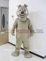 köpek kostüm çocuğu toptan satış-Bala Köpek maskot kostüm ücretsiz kargo, ucuz yüksek kalite karnaval parti Fantezi peluş yürüyüş Bulldog maskot yetişkin boyutu.