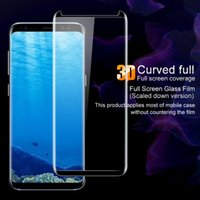 Wholesale Note Protector Case - Tempered Glass No Pop up Case Friendly For Samsung Note 8 S8 S8 Plus S7 edge 3D Curved Full Screen Protector for Samsung Galaxy S6 edge plus