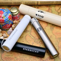 Wholesale Korea Cup - Starbucks Korea long long stainless steel thermos cup goddess a cup of coffee with creative anti wolf cup