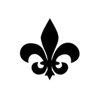 Wholesale Flat Roofing - FLEUR DE LIS Flower Car Sticker Decal Personalized Motorcycle Car Styling Can Be Pasted To Any Flat Surface