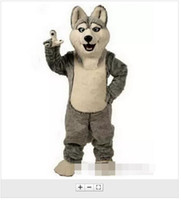 Wholesale Grey Dog Costume - Hot Sale Husky Dog Mascot Costume Adult Cartoon Character Mascota Mascotte Outfit Suit Fancy Dress Party Carnival Costume