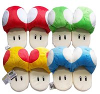 Wholesale Mushroom Slippers - Plush Slippers Super Mario Brothers Orange Gold Mushroom Flip Flip Men Golden Slippers Toy Women Slippers Home Indoor Warm Slipper Cotton