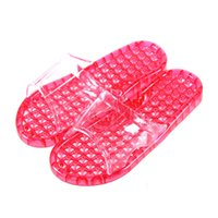Atacado- Mulheres Men Couple Indoor Crystal Candy Color Massage Chinelos Casual Woman Man Bead Bead Oco-out Home Home Shoe Zlipper